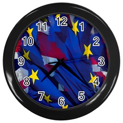 Brexit Referendum Uk Wall Clocks (black)