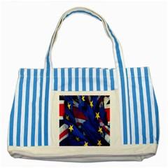 Brexit Referendum Uk Striped Blue Tote Bag
