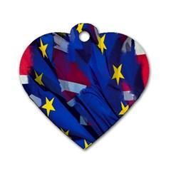 Brexit Referendum Uk Dog Tag Heart (one Side)