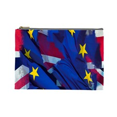 Brexit Referendum Uk Cosmetic Bag (large)