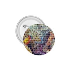 Brick Of Walls With Color Patterns 1 75  Buttons by Nexatart