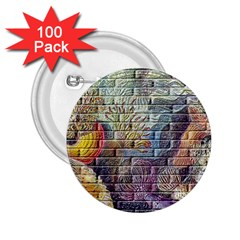 Brick Of Walls With Color Patterns 2 25  Buttons (100 Pack)