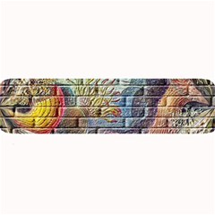 Brick Of Walls With Color Patterns Large Bar Mats by Nexatart