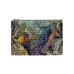 Brick Of Walls With Color Patterns Cosmetic Bag (medium)
