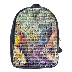 Brick Of Walls With Color Patterns School Bags(large)