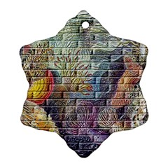 Brick Of Walls With Color Patterns Ornament (snowflake)