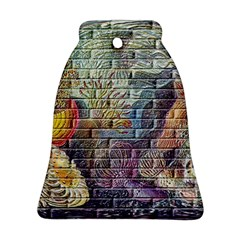 Brick Of Walls With Color Patterns Bell Ornament (two Sides)