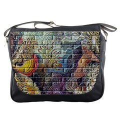 Brick Of Walls With Color Patterns Messenger Bags