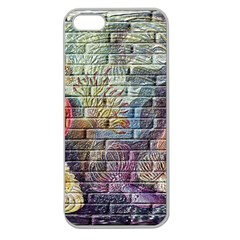 Brick Of Walls With Color Patterns Apple Seamless Iphone 5 Case (clear)