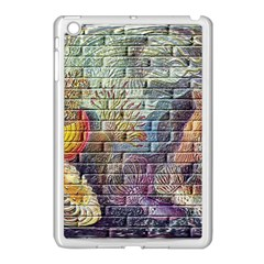 Brick Of Walls With Color Patterns Apple iPad Mini Case (White) by Nexatart