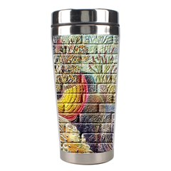Brick Of Walls With Color Patterns Stainless Steel Travel Tumblers