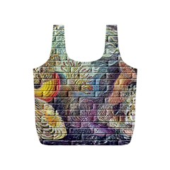 Brick Of Walls With Color Patterns Full Print Recycle Bags (s)