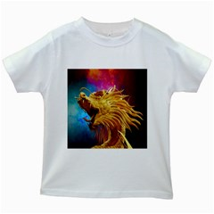 Broncefigur Golden Dragon Kids White T Shirts