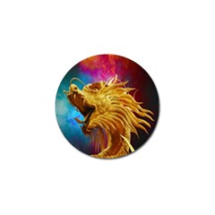 Broncefigur Golden Dragon Golf Ball Marker (4 Pack)