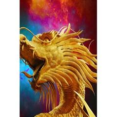 Broncefigur Golden Dragon 5 5  X 8 5  Notebooks by Nexatart