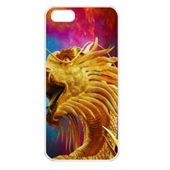 Broncefigur Golden Dragon Apple Iphone 5 Seamless Case (white)