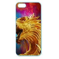 Broncefigur Golden Dragon Apple Seamless Iphone 5 Case (color)