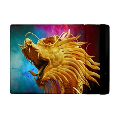 Broncefigur Golden Dragon Apple Ipad Mini Flip Case by Nexatart