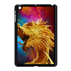 Broncefigur Golden Dragon Apple Ipad Mini Case (black) by Nexatart