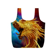 Broncefigur Golden Dragon Full Print Recycle Bags (s)