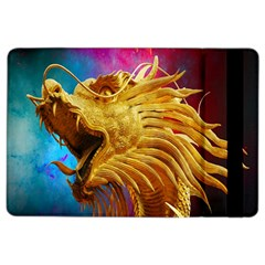Broncefigur Golden Dragon Ipad Air 2 Flip by Nexatart
