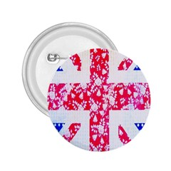 British Flag Abstract 2 25  Buttons