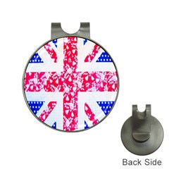 British Flag Abstract Hat Clips With Golf Markers