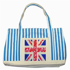 British Flag Abstract Striped Blue Tote Bag