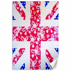 British Flag Abstract Canvas 24  X 36