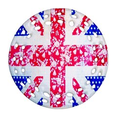 British Flag Abstract Round Filigree Ornament (two Sides)