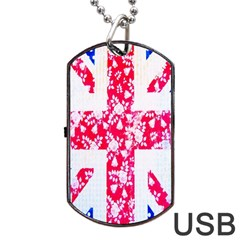 British Flag Abstract Dog Tag Usb Flash (one Side)