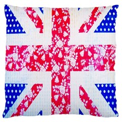 British Flag Abstract Large Cushion Case (one Side)