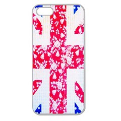 British Flag Abstract Apple Seamless Iphone 5 Case (clear)