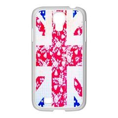 British Flag Abstract Samsung Galaxy S4 I9500/ I9505 Case (white)