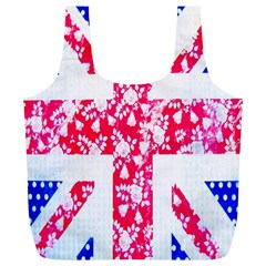 British Flag Abstract Full Print Recycle Bags (l)  by Nexatart