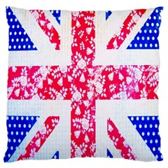British Flag Abstract Large Flano Cushion Case (two Sides)