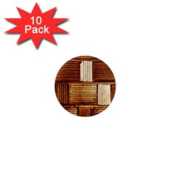 Brown Wall Tile Design Texture Pattern 1  Mini Magnet (10 Pack)