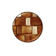 Brown Wall Tile Design Texture Pattern Hat Clip Ball Marker (4 Pack)