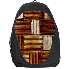 Brown Wall Tile Design Texture Pattern Backpack Bag