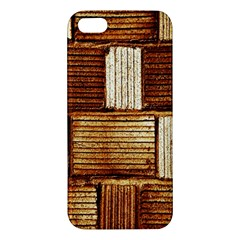 Brown Wall Tile Design Texture Pattern Iphone 5s/ Se Premium Hardshell Case