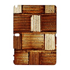 Brown Wall Tile Design Texture Pattern Galaxy Note 1 by Nexatart