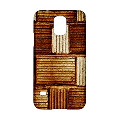 Brown Wall Tile Design Texture Pattern Samsung Galaxy S5 Hardshell Case