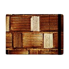 Brown Wall Tile Design Texture Pattern iPad Mini 2 Flip Cases by Nexatart