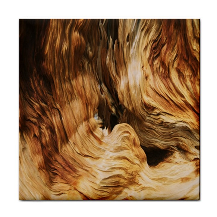 Brown Beige Abstract Painting Tile Coasters