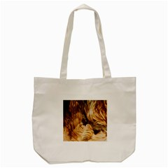 Brown Beige Abstract Painting Tote Bag (Cream) by Nexatart