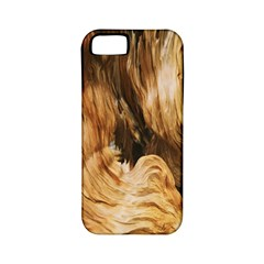 Brown Beige Abstract Painting Apple Iphone 5 Classic Hardshell Case (pc+silicone)