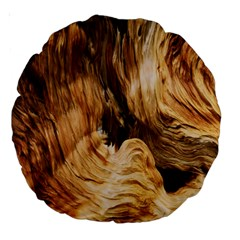 Brown Beige Abstract Painting Large 18  Premium Round Cushions by Nexatart