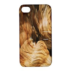 Brown Beige Abstract Painting Apple Iphone 4/4s Hardshell Case With Stand