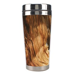 Brown Beige Abstract Painting Stainless Steel Travel Tumblers