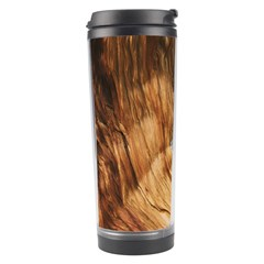 Brown Beige Abstract Painting Travel Tumbler